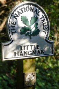The National Trust's 'Little Hangman' signage